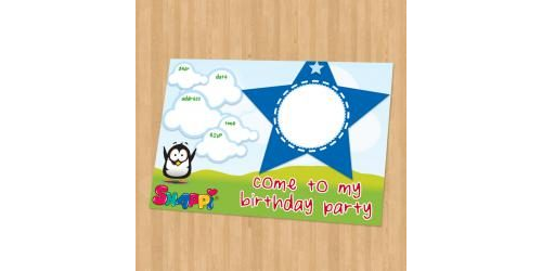 Snappi Party Invitation - Boy