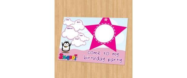 Snappi Party Invitation - Girl